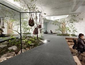 Yuko Nagayama设计--日本神户Sisii皮具公司花园式展厅