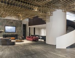 福建品悦公装设计--峰林与海 · 德利石材展厅