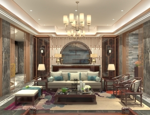 新中式别墅设计,谷郡凡舍室内设计