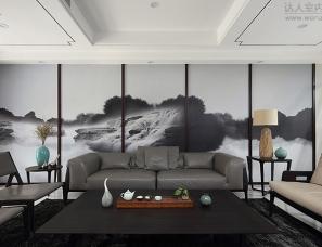 南京陈熠室内设计--宏图上水庭院(印墨江南)
