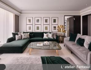 缤纷设计--雀翎辉煌的现代诠释73.8坪住宅
