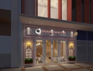 鼎尚联合设计-陕西西安大明宫-玻尔松饼餐厅装潢设计
