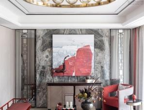 品辰设计--长沙和泓·桃李春风新中式样板间