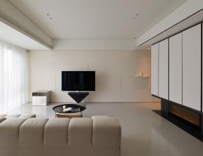 台北水相设计--矩形玩列130㎡住宅