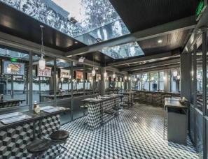 如恩设计新作--四面通透的街旁汉堡餐厅