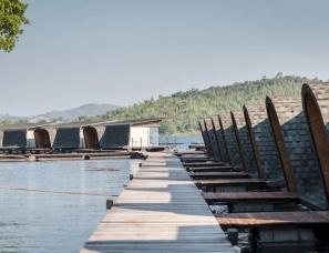泰国最新水上筏式酒店设计,感受纯粹的自然灵境!