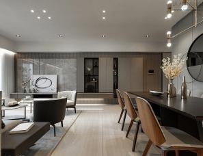 115㎡现代休闲风住宅 | 长景国际设计