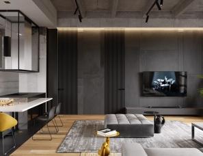 Cartelle Design--莫斯科136㎡轻工业风住宅,粗犷外表下的时尚美