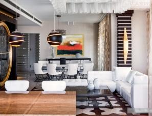 俄罗斯建筑师梅德Kulish设计新作  303平方米的都市公寓