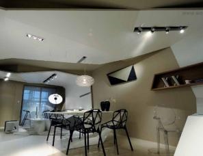 凌子达设计《丝带舞动的空间》江苏南通万达样板