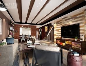 昊然设计--中惠卡丽兰401/149平方复式住宅