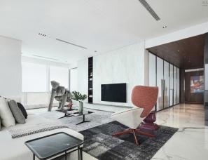 壹舍设计方磊--成都花漾锦江H/G/N/M户型样板房与大堂公区