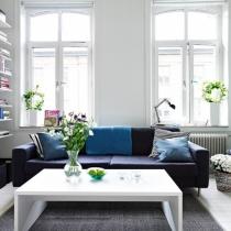 58平米蓝白清新的北欧公寓