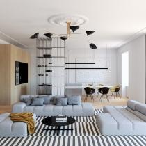 Slava Balbek & Artem Zavarzin 设计--优雅,舒适的公寓